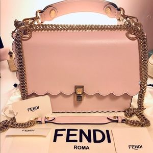 Fendi 2019 Kan I Pink Leather Bag